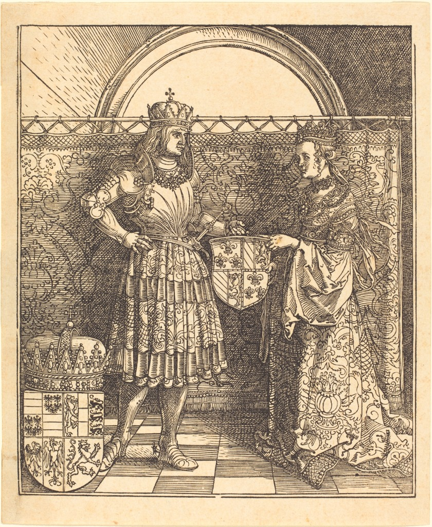 This image has an empty alt attribute; its file name is albrecht_ducc88rer_-_the_betrothal_of_maximilian_with_mary_of_burgundy_nga_1978.106.1.jpg